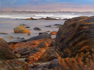 #52 - Wells Beach Rocks I (Rock on Right)