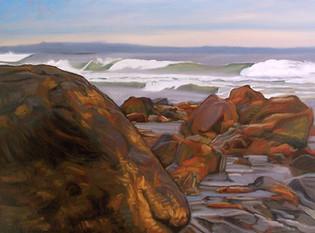 #53 - Wells Beach Rocks II (Rock on Left)