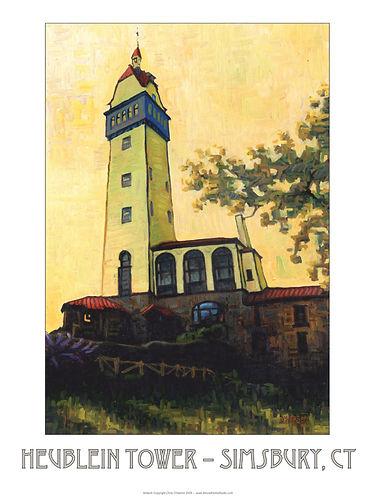 Heublein Tower poster by Chris O'Herron