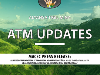MACEC Press Release: Pananawagan at Panindigan ng mga Marinduqueno sa ika-25 taong anibersaryo.