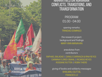 Publication Launch: Repormang Agraryo at Pagbabago? Narratives on Agrarian Conflicts, Transitions, a