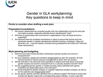 IUCN-NL: Gender Webinars