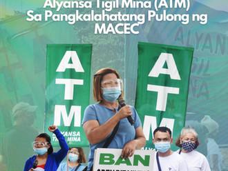 Pahayag ng Pakikiisa ng Alyansa Tigil Mina (ATM)Sa Pangkalahatang Pulong ng MACEC