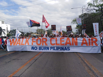ATM message for Walk for Clean Air