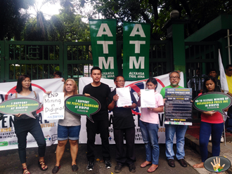 ATM Press Statement: Hand-over of the 10,000 signatures to DENR to stop the illegal mining operation