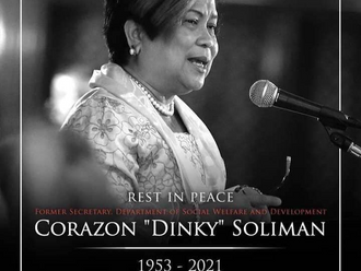 """Rest in Peace Sec. Corazon """"Dinky"""" Soliman."""