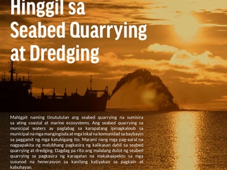 Pahayag ng Paninindigan Hinggil sa Seabed Quarrying at Dredging – Oceana (Filipino)