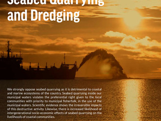 Position on Seabed Quarrying and Dredging – Oceana (English)