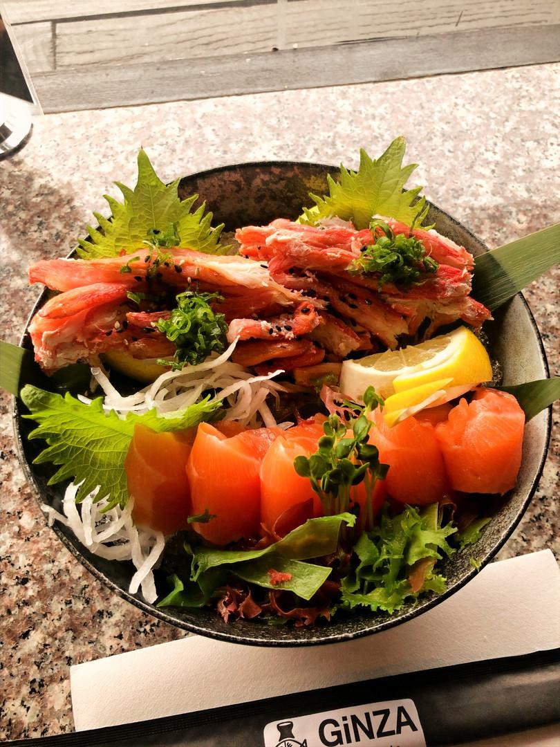 Crab & Salmon Sashimi