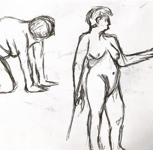 Life Drawing - side profile