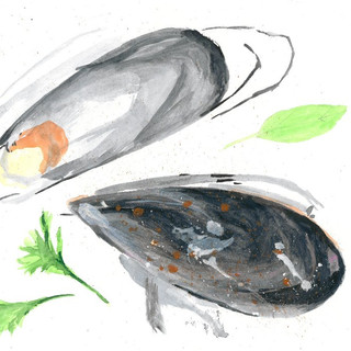 Acrylic Paint Aubergines