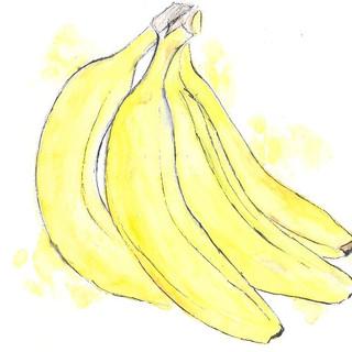 Watercolour Bananas