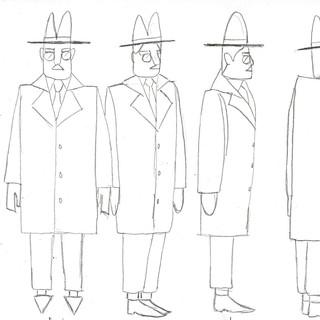 Fernando Pessoa Character Design Sheet