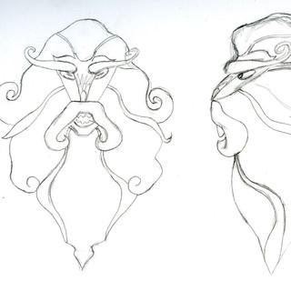 Mostrengo Character Design Sheet