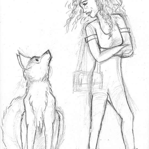 Student and her Dog