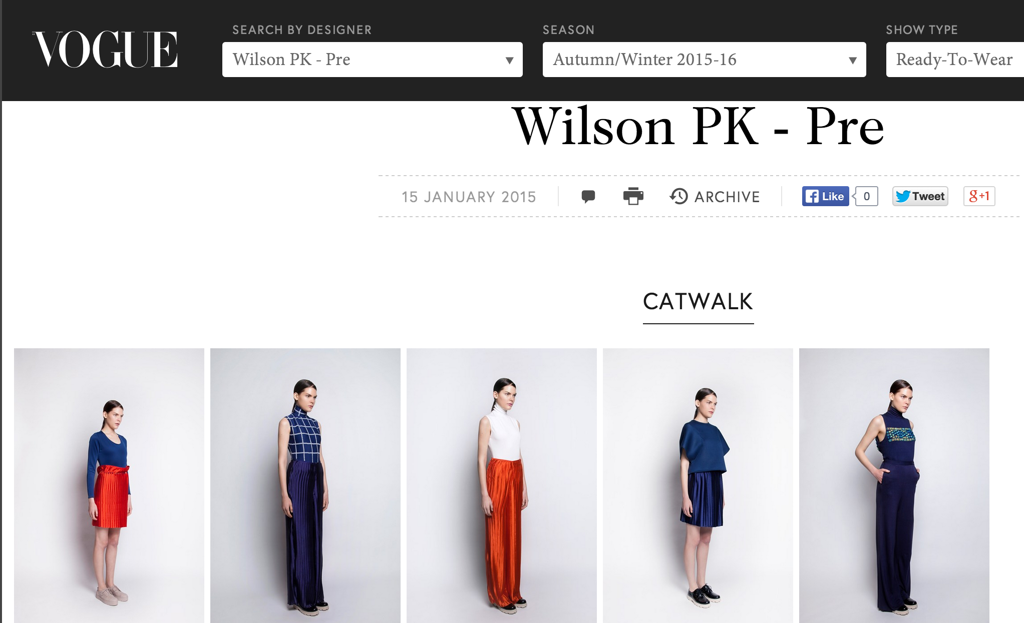 VOGUE - WILSON PK PRE FALL