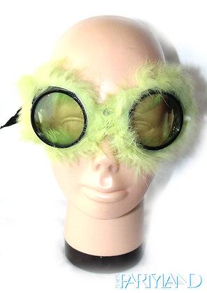 Green Fluffy Glasses