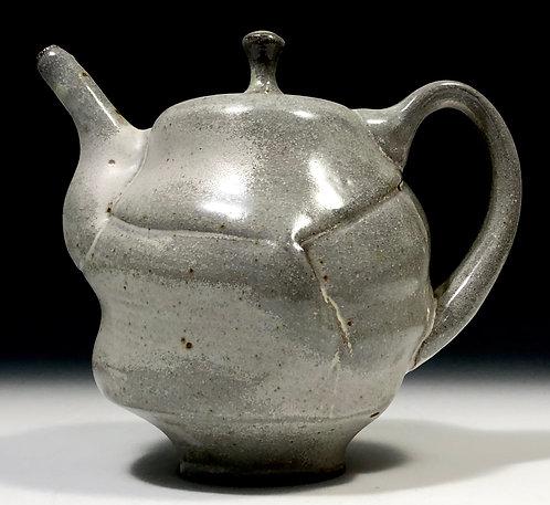 Small matte white teapot
