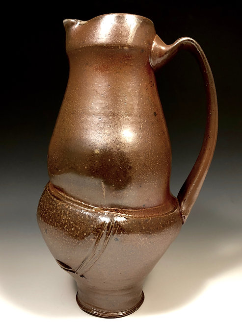 Stoneware pitcher