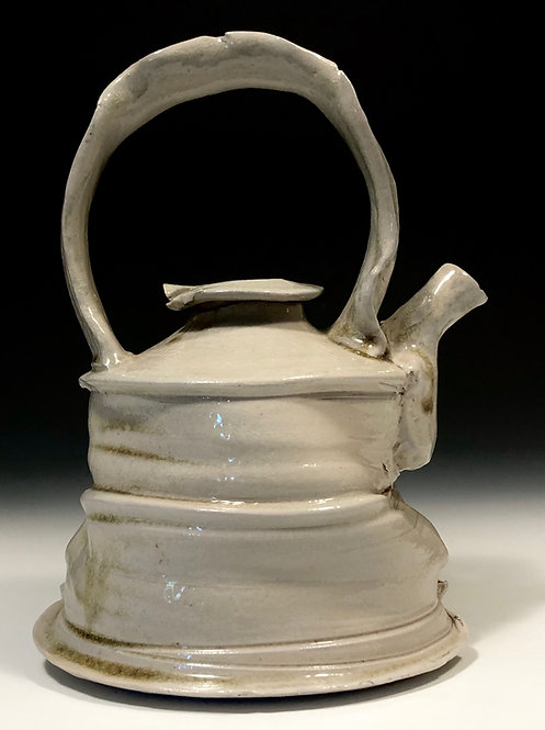 Wood salt fired teapot