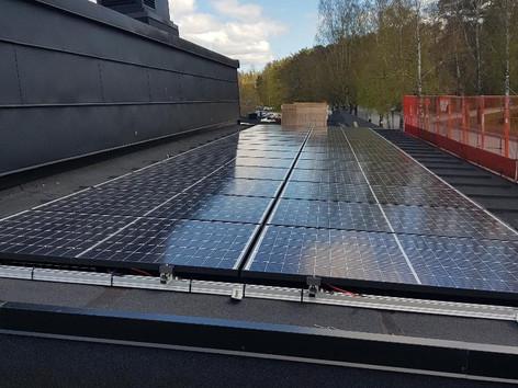 Solpaneler i Borås