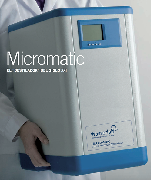 MICROMATIC PURIFICADOR PARA AGUA TIPO II DESDE RED