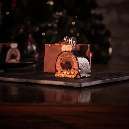 Noel en Beaujolais - Le Dessert - Bûche Chocolat