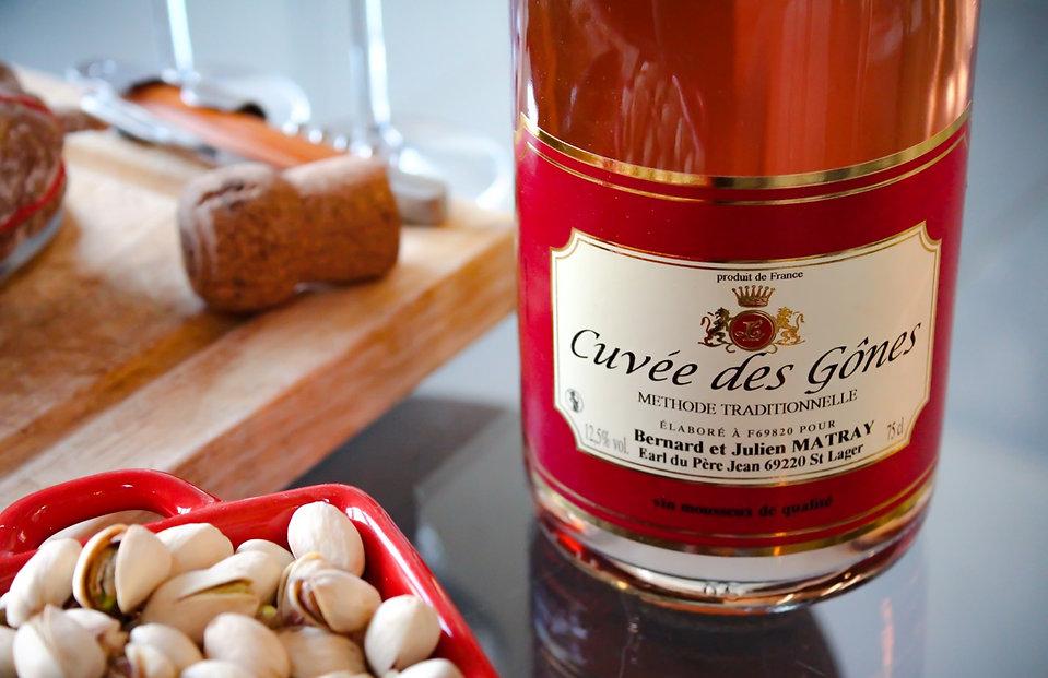 Pétillant Rosé Beaujolais cuvée des gones domaine du père jean