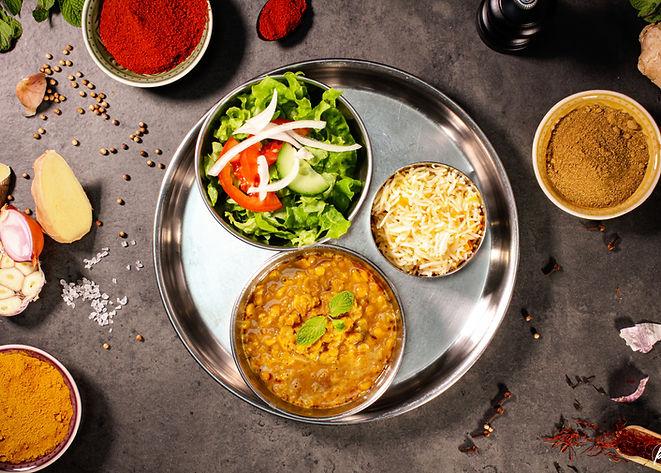 Dall Curry lentilles indiennes Tandoori Masala Food Truck