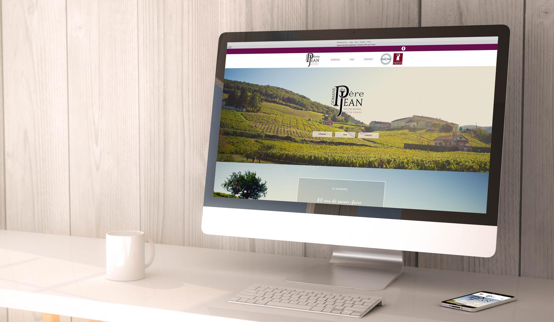 Site internet - Domaine du Père Jean