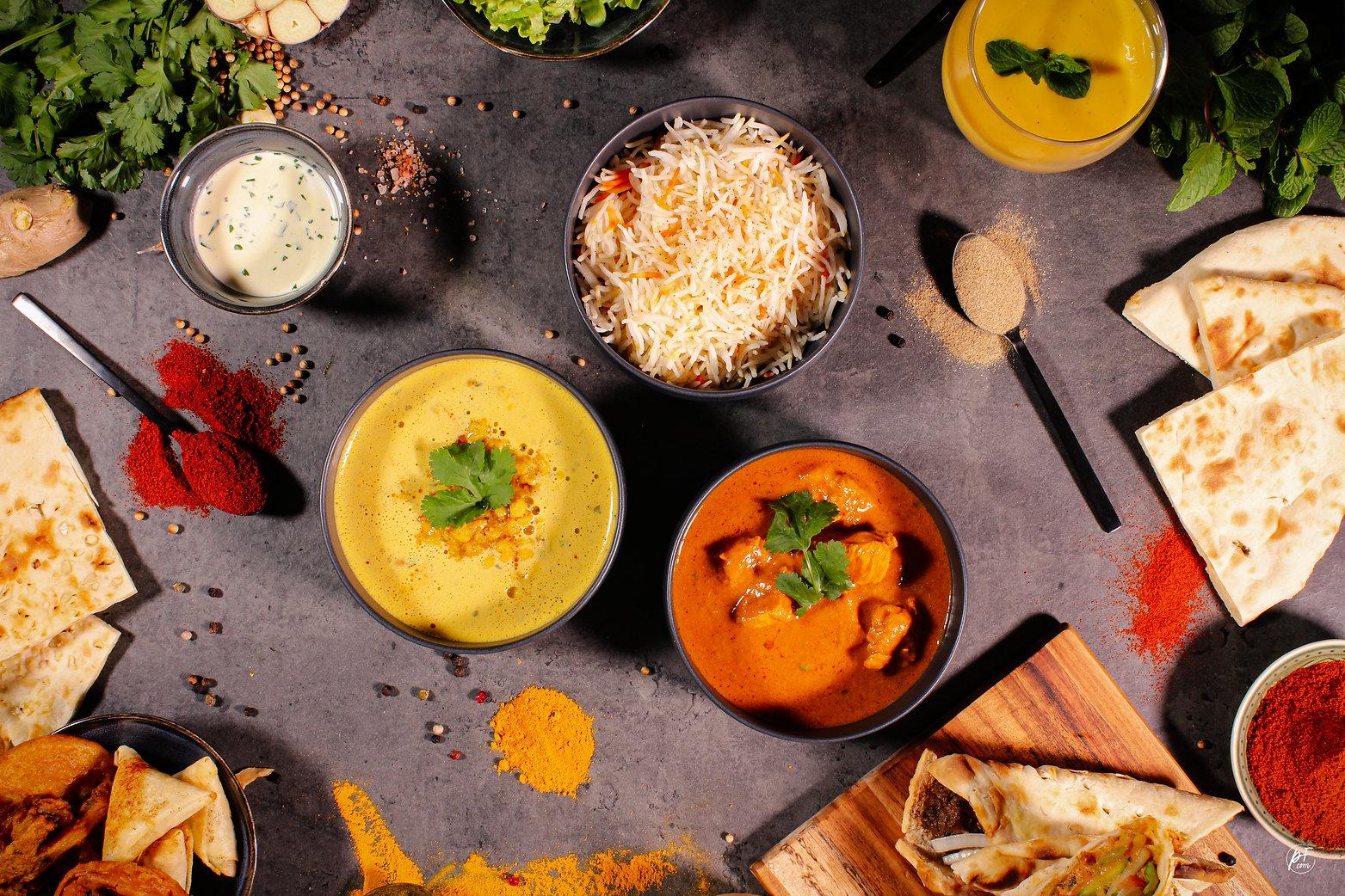 Plats indiens restauration traditionnelle Tandoori Masala Food Truck