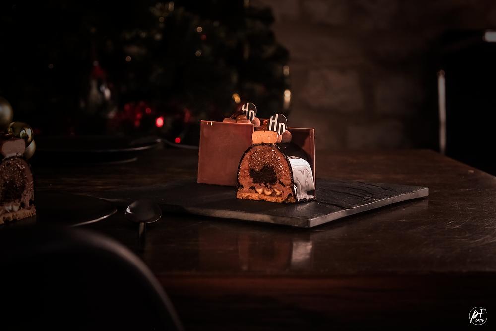 Bûche chocolat de Noël henri Desmoulins bûchette