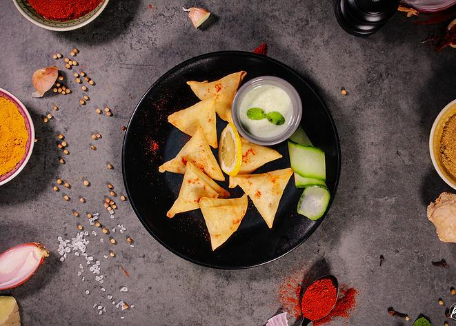 Samossas Mix Tandoori Masala Food Truck