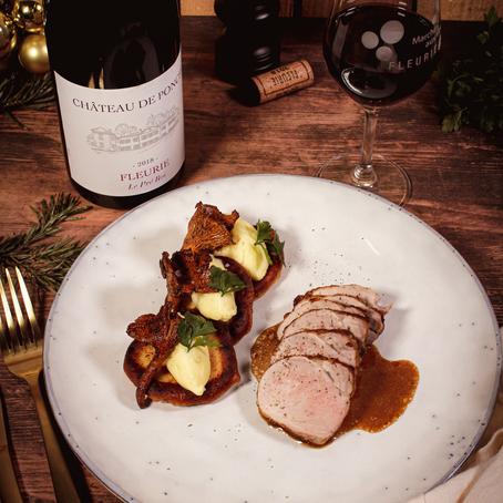 Noel en Beaujolais - Le Plat - Filet Mignon de Cochon fermier