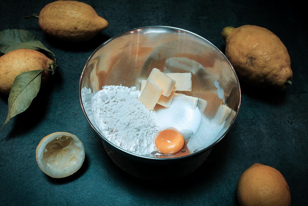 Ingrédients et préparation du sablé breton au beurre demi-sel d'Etrez