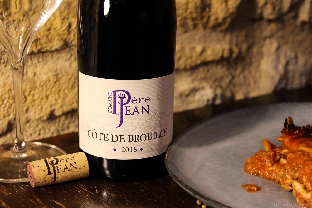 Côte de Brouilly Tradition 2018 - Nouvelle étiquette Domaine du Père Jean