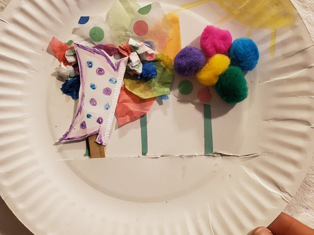 Paper Plate Pollination Craft for Kindergarten