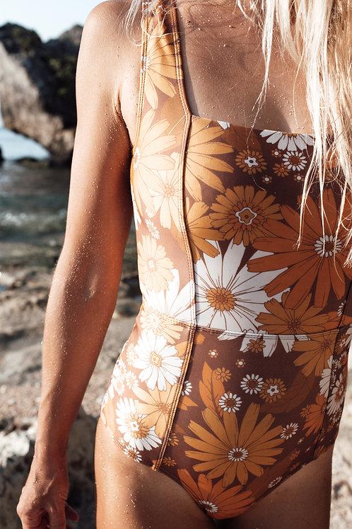 Honua Retro Blossom Surf Suit