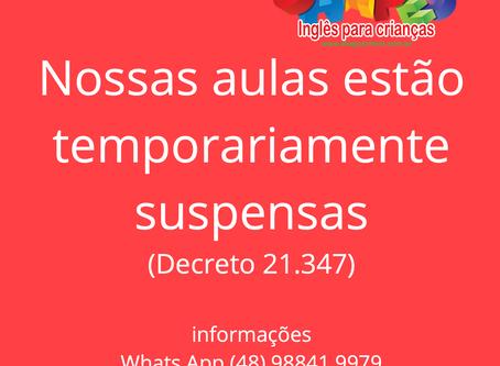 Suspensão das aulas (Decreto 21.347)