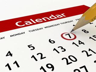 Calendário segundo semestre 2017