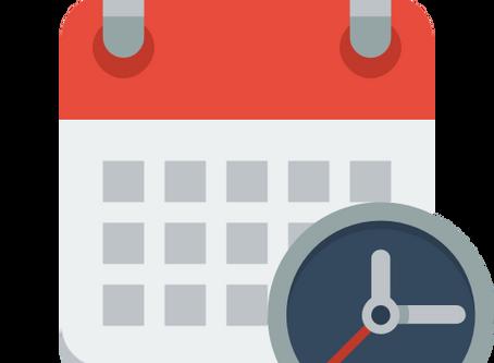 Calendário 2018 - 1