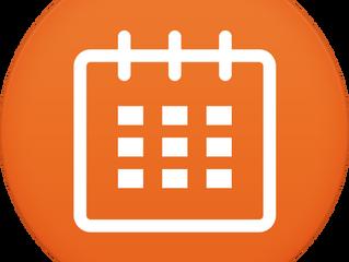 Calendário segundo semestre 2018