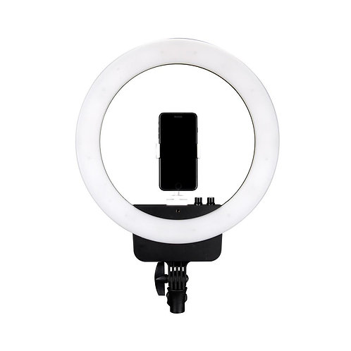 "NanLite Halo 16 Bi-Color LED AC/Battery 16"" Ring Light with USB Power Passthroug"