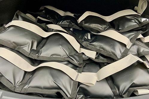 15lb Water Repellent Vinyl Sandbag (Gray Handle)