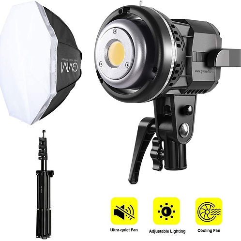 GVM 80W LED Video Light+22 inches Softbox+Light Stand Kit