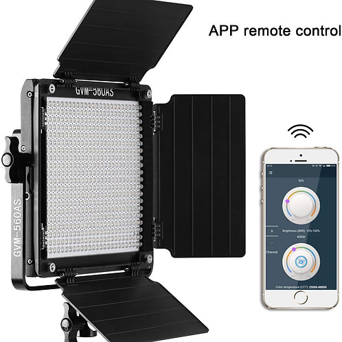 GVM 560 LED Video Light, Dimmable Bi-Color Lighting Kit with free APP Control