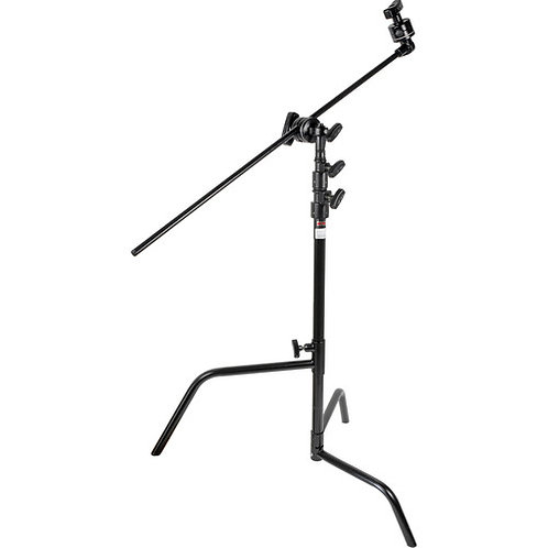 "Matthews Hollywood 20"" C-Stand with Sliding Leg Grip Head and Arm, Black - 5.25'"