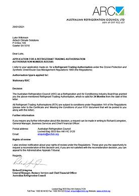 Authorisation Approval Letter - AU53585