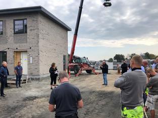 Rejsegilde på første byggeri i Klarup Søpark