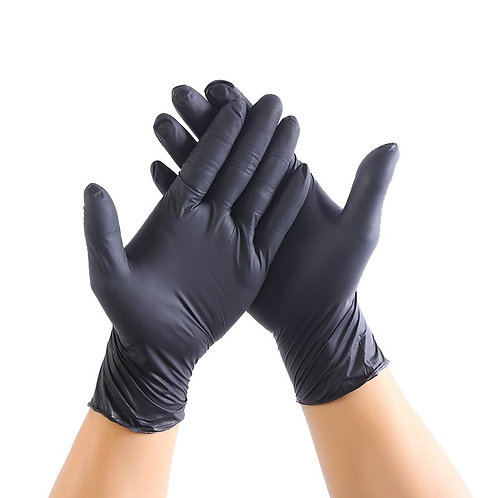 100pcs Black Disposable Latex Gloves Garden Gloves for Home Cleaning